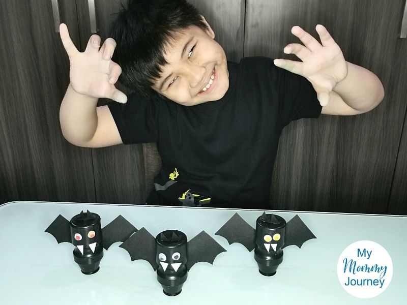 Halloween Bats Yakult bottle craft verdict 5 stars