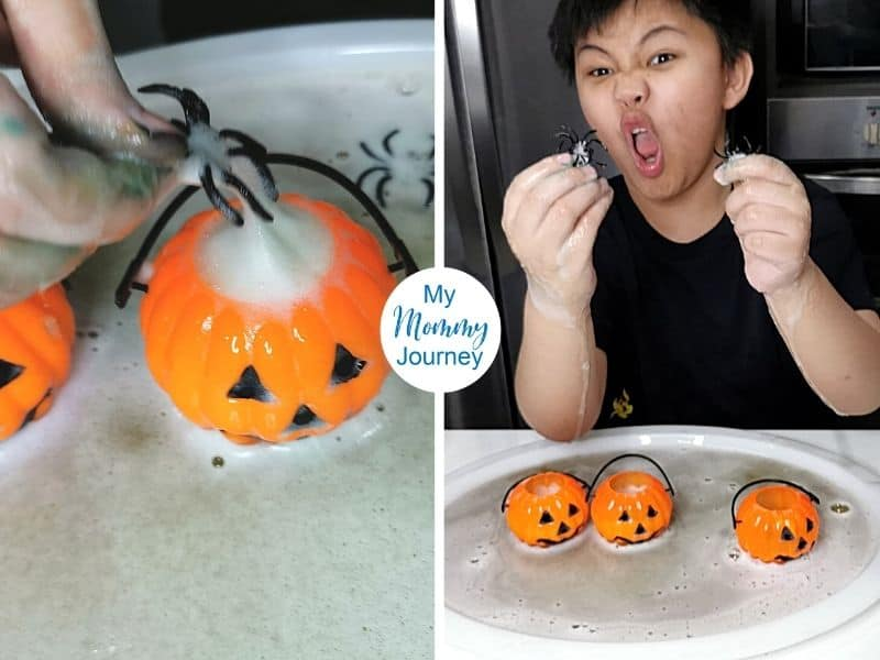 Halloween volcano spiders coming out