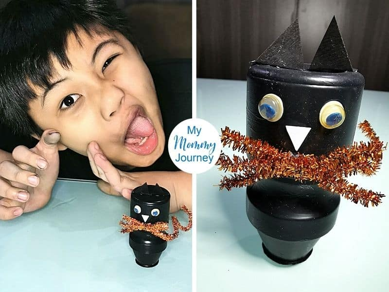 Halloween Black Cat Yakult Bottle Craft verdict 5 stars