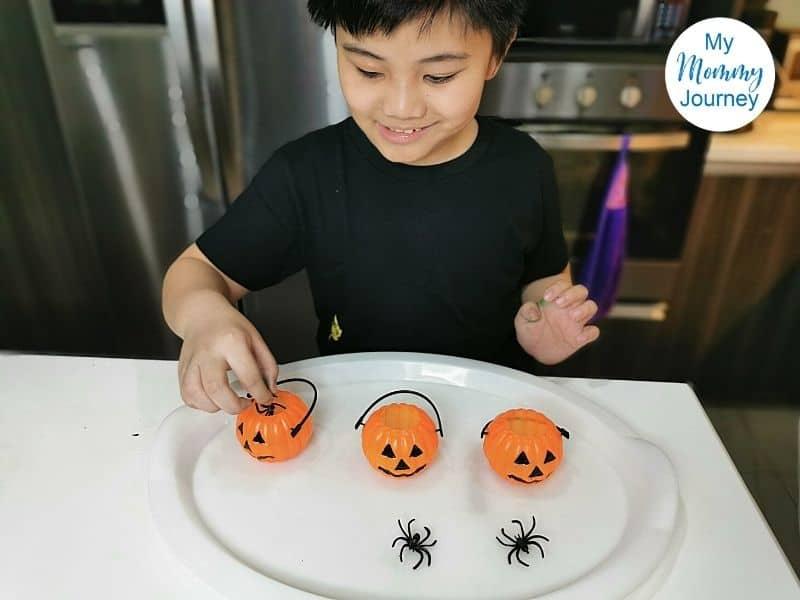 Halloween volcano spiders