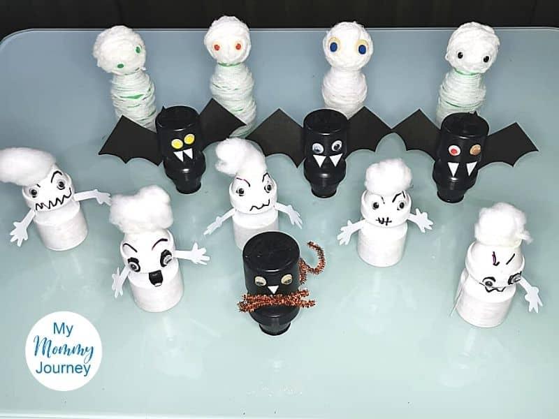 Halloween Black Cat Yakult Bottle Craft group