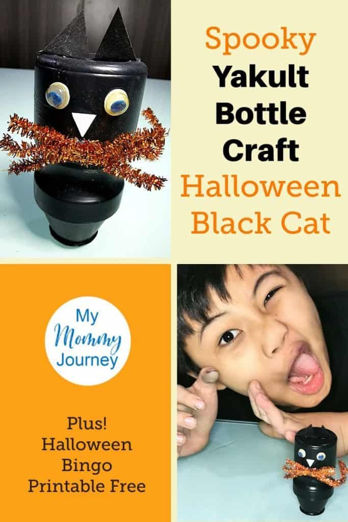 Halloween Cat Yakult Pinterest pin