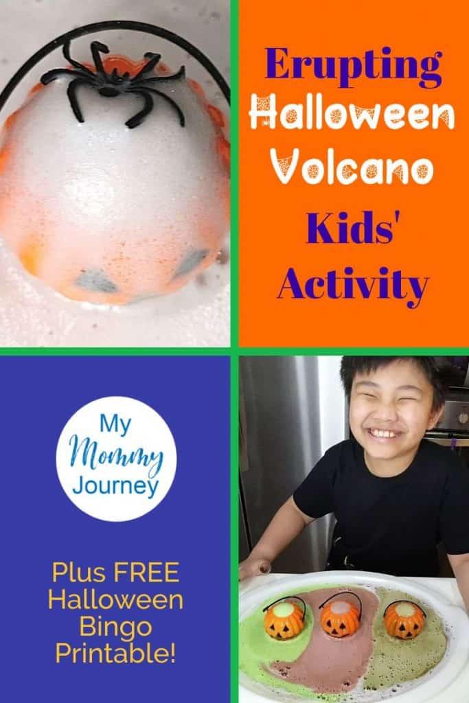 Halloween Volcano Pinterest pin