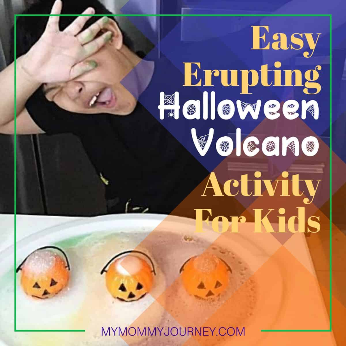 Easy Erupting Halloween Volcano Activity For Kids