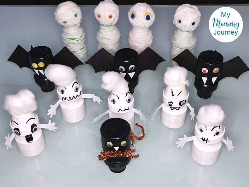 Halloween Yakult Bottle crafts group
