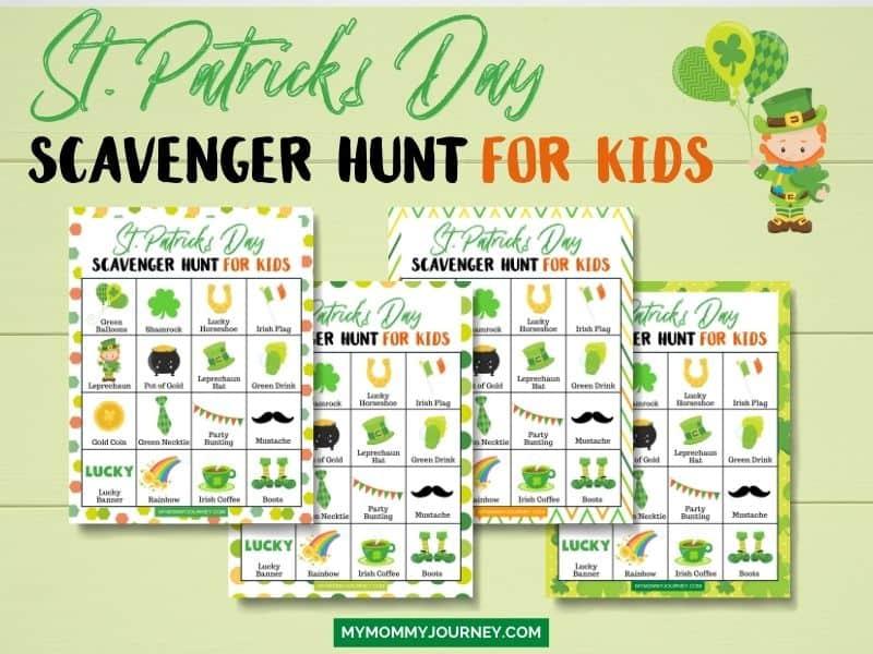 St. Patrick's Day Scavenger Hunt for Kids free printable