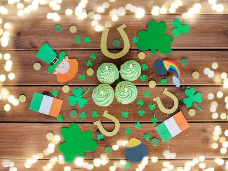 St. Patrick's Day Scavenger Hunt for Kids indoors with Irish items