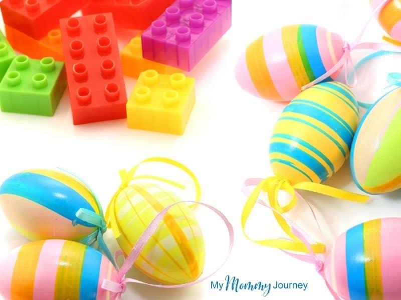 Unique Easter Egg Hunt at Home for Kids Lego as Easter egg filler