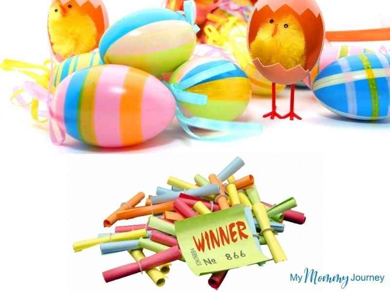 Unique Easter Egg Hunt at Home for Kids raffle draw tickets