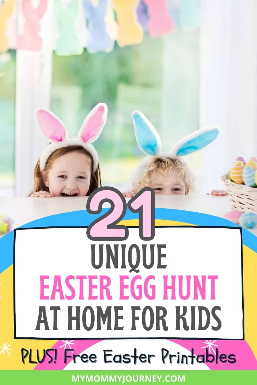 Unique Easter Egg Hunt At Home For Kids Pinterest pin
