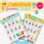 Cool Countdown to Summer Vacation Free Printable