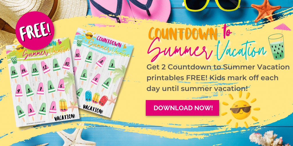 Countdown to Summer Vacation freebie ad