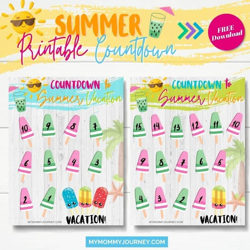 printable countdown 2 pages