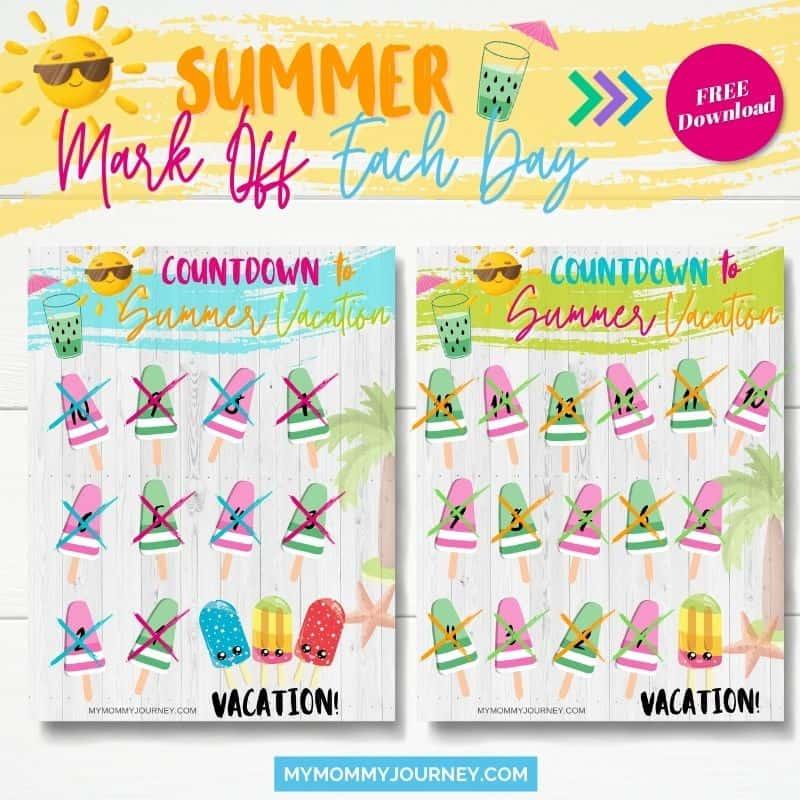 Summer Mark Off Each Day