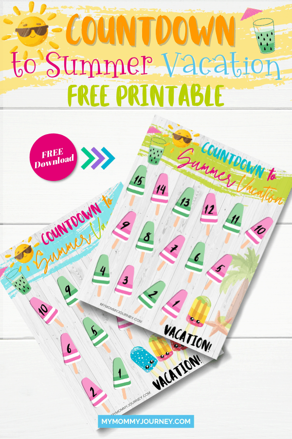 Countdown to summer vacation free printable